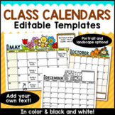 Editable Monthly Calendars 2018-2019
