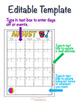 Editable Monthly Calendars 2018-2019 for Classroom Management