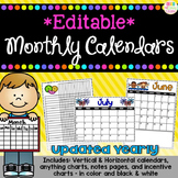 *Editable* Monthly Calendars and Organization Pages
