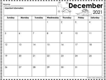 Editable Monthly Calendars for Homework, Behavior Tracking and Planning