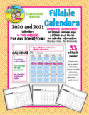 UPDATED FOR 2019-2020:  Editable 12-Month Calendars in TWO VERSIONS-PDF AND PPT!