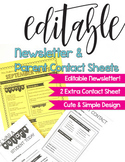 Editable Monthly & Weekly Class Newsletter - Simple Cute B