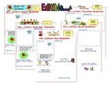 Editable Monthly Classroom Newsletter