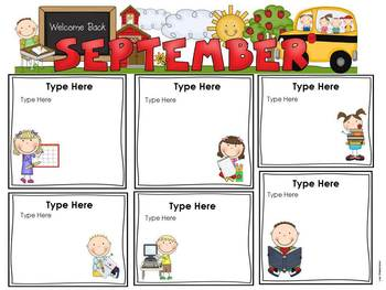 Editable Monthly Classroom Newsletter Templates