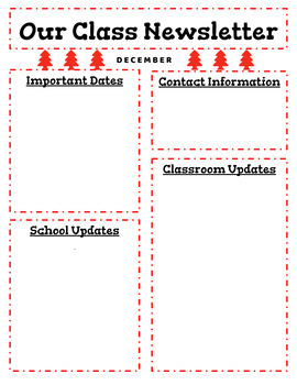 {Editable} Monthly Classroom Newsletter for All Grades