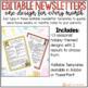 Editable Classroom Newsletter Templates- Seasonal
