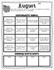 Editable Monthly Homework Menus - Microsoft Publisher File - PreK, KG, 1st-4th