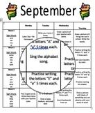 Editable Monthly Homework (September)