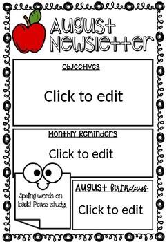 Editable Monthly Newsletter.