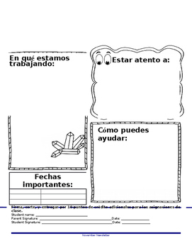 Editable Monthly Newsletter English and Spanish [Earth Science]