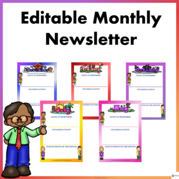 Editable Monthly Newsletter Template
