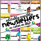 Editable Monthly Newsletter Templates {Google Drive or PDF EDITS}
