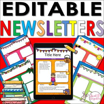 NEWSLETTER TEMPLATES EDITABLE: Digital Slides