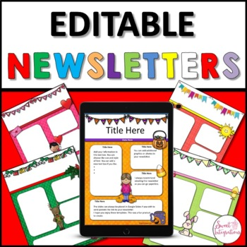 DIGITAL NEWSLETTER TEMPLATES EDITABLE GOOGLE SLIDES™