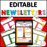 NEWSLETTER TEMPLATE EDITABLE MONTHLY: Digital Format Google Slides™