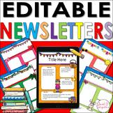 EDITABLE NEWSLETTER TEMPLATES | MONTHLY THEME | Digital Format Google Slides™