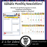 Editable Monthly Newsletters - 16 Pages, Alternatives for Oct, May & Nov