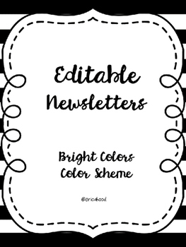Editable Monthly Newsletters [Bright Colors]