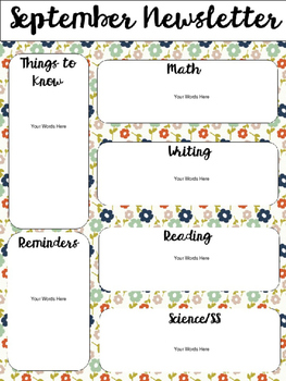 Editable Monthly Newsletters [Colorful Fall Colors]
