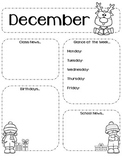 Editable Monthly Newsletters Year Round 12 Months School B