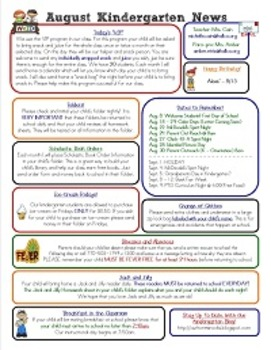 Editable Monthly Newsletters for 2014 - 2015 (Microsoft Publisher Format)