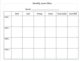 Editable Monthly Planner Template