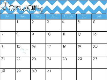 Editable Monthly Planning Calendar
