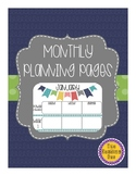 Editable Monthly Planning Pages