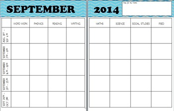 Editable Monthly Planning Template