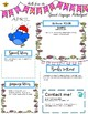 Editable Monthly Speech/Language Parent Handouts for Young Elementary Students