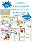 Editable Monthly Speech/Language Parent Handouts for Young