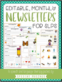 Editable Monthly Speech & Language Therapy Newsletters