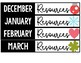 Editable Monthly Word Work and Resource Bin Labels