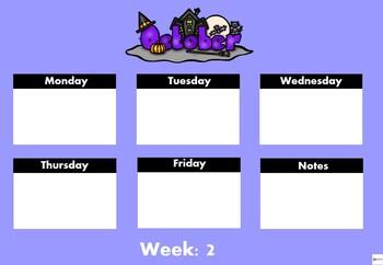 Editable Monthly and Weekly Calendar Bundle ( Australia Edition)
