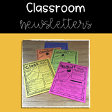 Editable Monthly and Weekly Classroom Newsletters