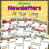 Monthly Newsletters - Editable