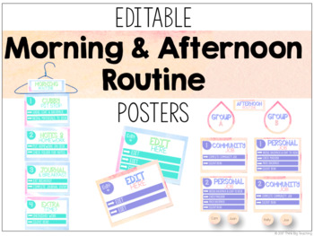 Editable Morning & Afternoon Routine Posters