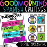 Editable Morning Greeting SPANISH Signs to Build Classroom Community