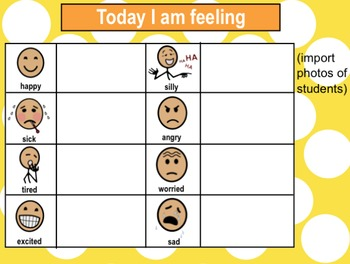 Editable Morning Meeting File For Students With Special Needs