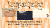Editable Morning Meeting PPT Template (Fall Theme)