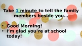 Editable Morning Meeting Slide Show