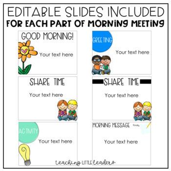 Editable Morning Meeting Slides