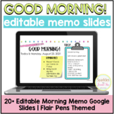 Editable Morning Meeting Slides {Perfect for At Home/Remot