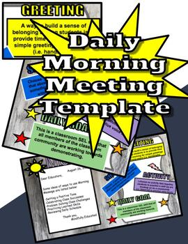 Editable Morning Meeting Zen Inspired PowerPoint