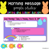 Editable Morning Message Google Slides Templates- Spring and Easter Edition!