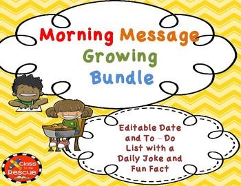 Editable Morning Message Growing Bundle
