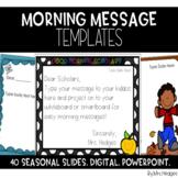 Editable Morning Message Templates