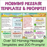 Editable Morning Message Templates and Prompts