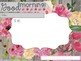 Editable Morning Message and To Do lists Templates Floral Theme with Timers