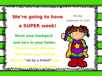 Editable Morning Message for a Super Week